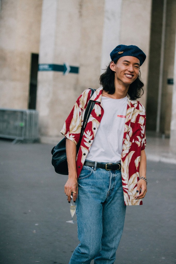 Boys Model Street Style At Paris Fashion Week Spring Summer 2019