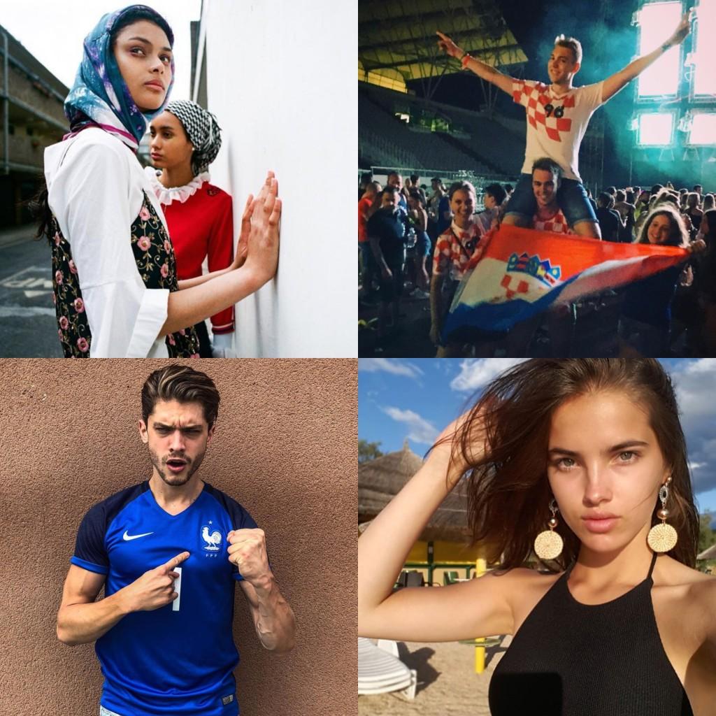 World Cup Final: Models France V Croatia